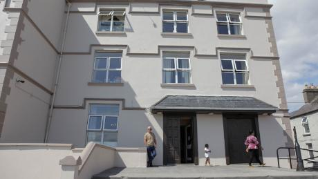 A hotel that serves as a direct provision center for asylum seekers in Galway,