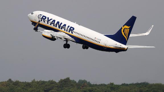 A Boeing Co. 737 aircraft, operated by Ryanair Holdings Plc, takes off from Tegel airport in Berlin, Germany, on Monday, July 29, 2019. Deutsche Lufthansa AG is considering a shift to a corporate holding structure, seeking to streamline Europe's biggest airline group as it fights for market share. Photographer: Krisztian Bocsi/Bloomberg via Getty Images