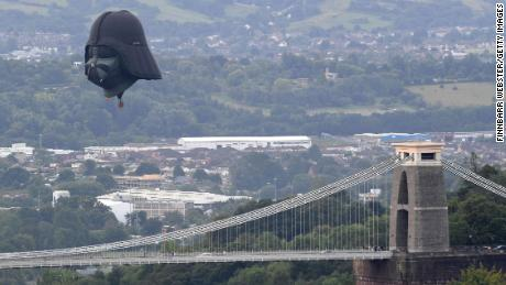 The balloon is flying over Bristol, where it was made, for the first time.