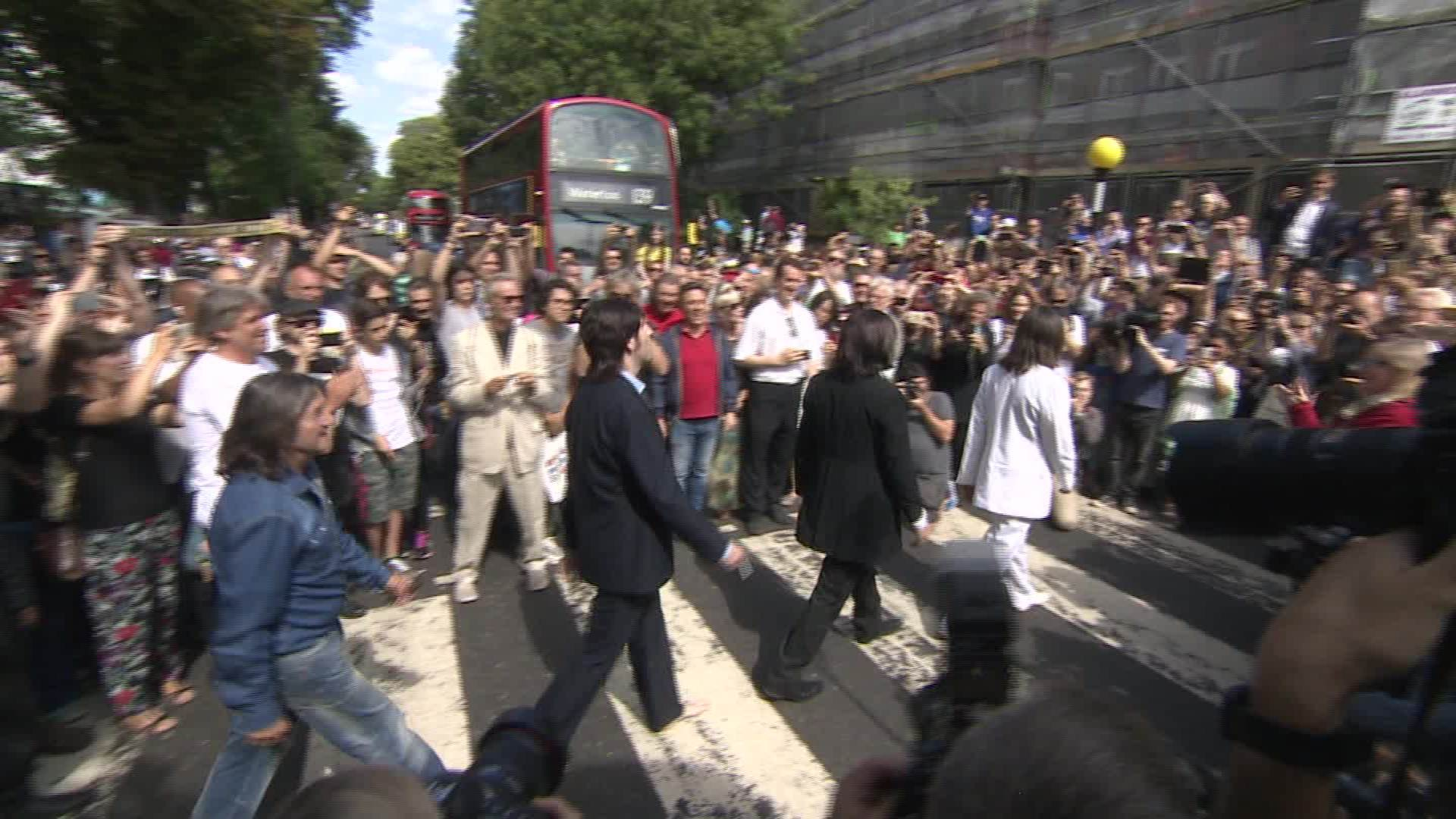 Hundreds Gather at Abbey Road to Celebrate Album's 50th ... | 1080x1920