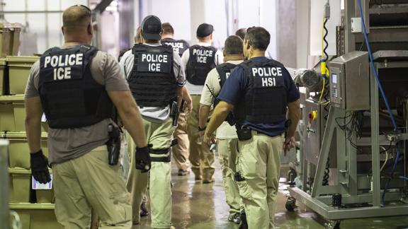Immigration and Customs Enforcement worksite enforcement operation in Canton, Mississippi