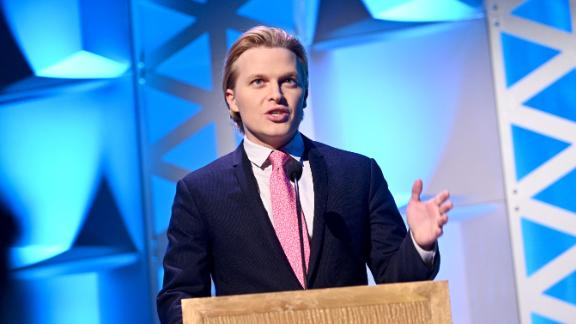 NEW YORK, NEW YORK - MAY 18: Ronan Farrow speaks onstage at the 78th Annual Peabody Awards Ceremony Sponsored By Mercedes-Benz at Cipriani Wall Street on May 18, 2019 in New York City. (Photo by Mike Pont/Getty Images for Peabody)