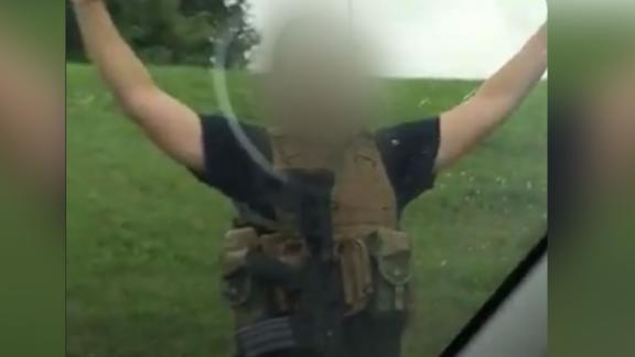 An armed Man Arrested at Walmart in Springfield, Missouri. CNN does not know who blurr