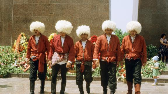 People in traditional dress when Turkmenistan was part of the USSR.
