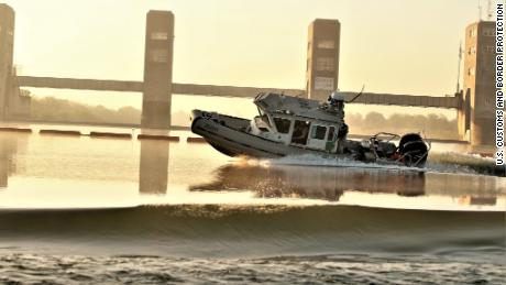 A US Border Patrol boat was fired upon Friday from the Mexican riverbank, according to US Customs and Border Protection officials in the Rio Grande Valley, who tweeted this photo with details of the incident.