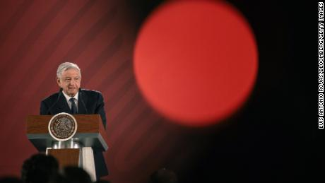 Andres Manuel Lopez Obrador, Mexico's president, speaks at the National Palace in Mexico City, Mexico, on Tuesday, Jun. 11, 2019.