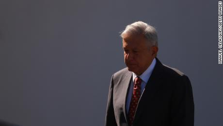 Andres Manuel Lopez Obrador walks in the ceremony of the deployment of the new Mexican security force - National Guard & # 39; at Campo Marte on June 30, 2019 in Mexico City, Mexico.