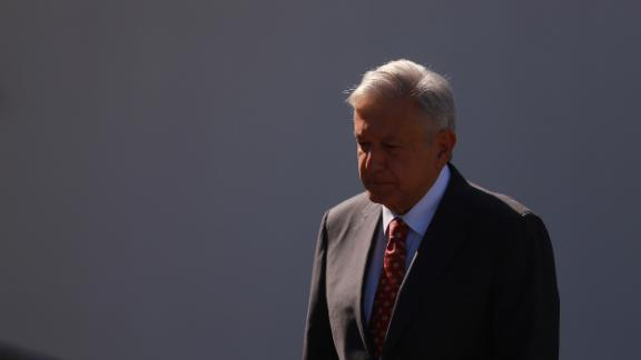 Andres Manuel Lopez Obrador walks during the ceremony of deployment of the new Mexican security force 'National Guard' at Campo Marte on June 30, 2019 in Mexico City, Mexico.