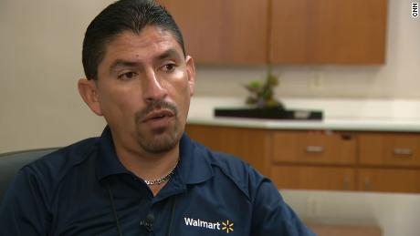 Robert Evans, manager of the Walmart in El Paso, Texas, where 22 people suffered fatal gunshot wounds tells CNN on August 9, 2019, about the gunman's demeanor and how Evans helped evacuate the store.