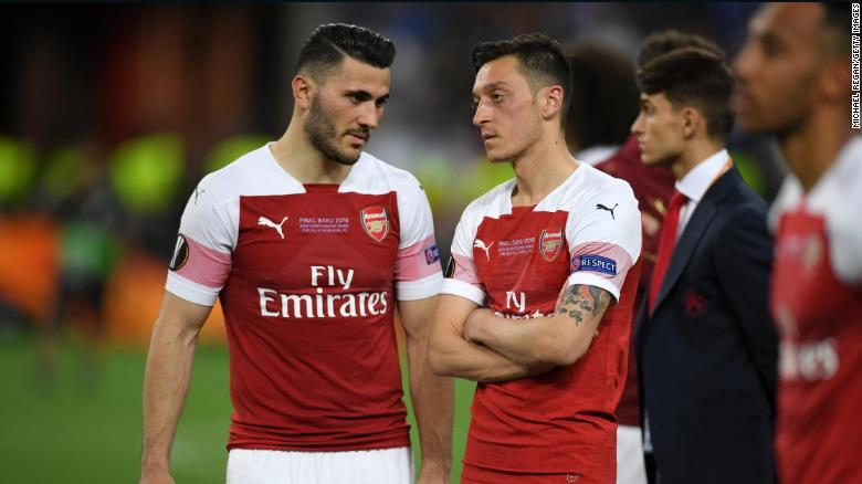 Sead Kolasinac and Mesut Ozil helped Arsenal reach last season's Europa League final.