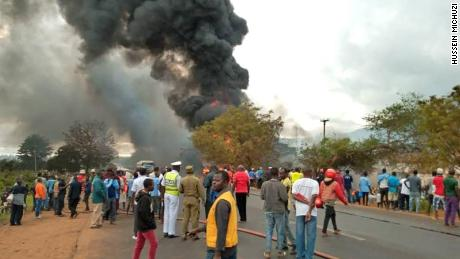 At least 61 people killed in a fuel tanker explosion in Tanzania