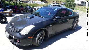 Gumina was last seen driving this 2005 black Infiniti Coupe with pink bow stickers on it, the El Dorado County Sheriff's Office said.