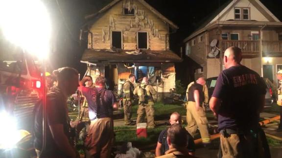 Firefighters respond to a blaze at an Erie, Pennsylvania home and daycare. Five children were killed.