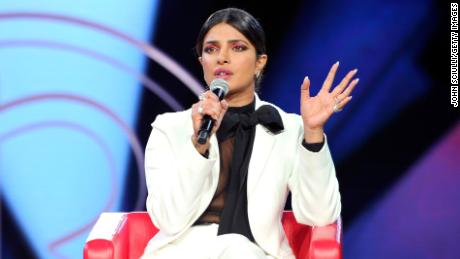 A woman confronted Priyanka Chopra, calling her a hypocrite. The actress said she's patriotic