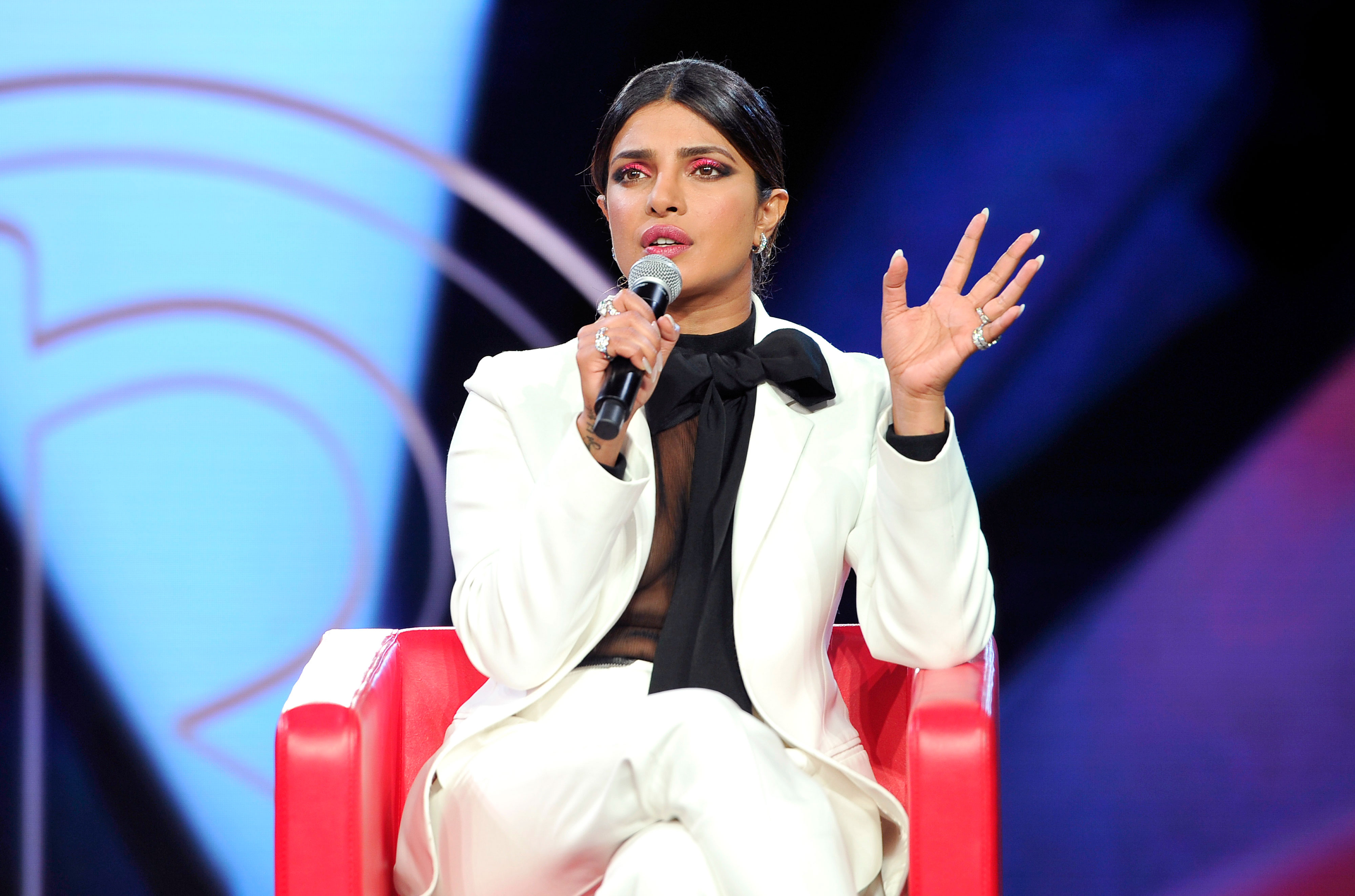 Priyanka Chopra confronted by a woman calling her a hypocrite. The actress said she's patriotic