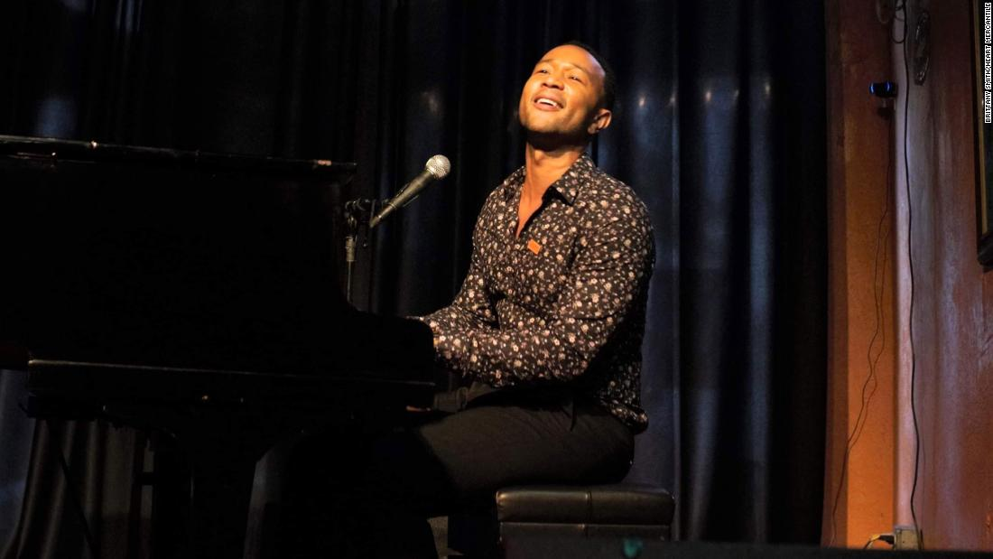 John Legend held a surprise concert in Dayton a week after mass shooting