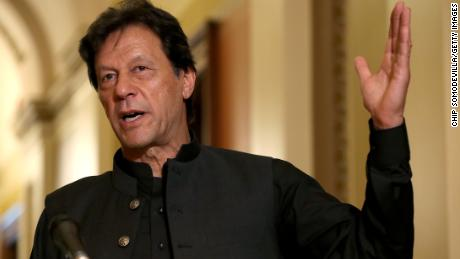 Pakistan Prime Minister Imran Khan, pictured in Washington, DC, in July 2019, says rapists should be chemically castrated.