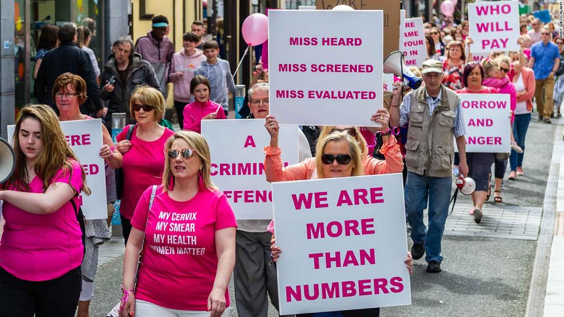 Skandal atas serviks pemeriksaan adalah tanda dari masalah yang lebih besar di Irlandia