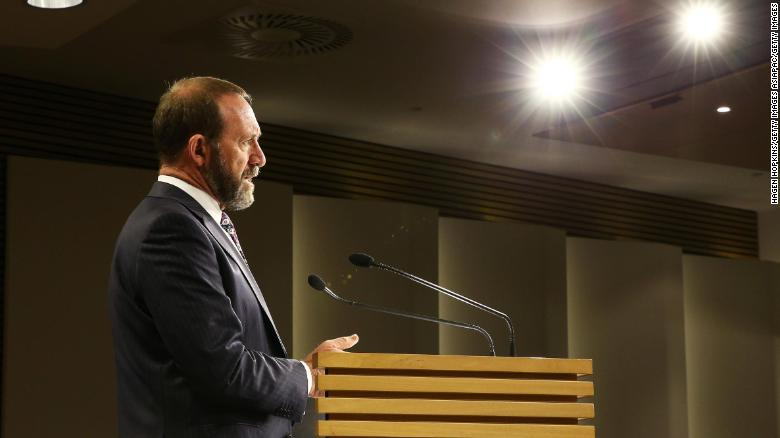 New Zealand Minister of Justice Andrew Little announces that abortion law will be modernized so that it is treated as a health issue on August 5, 2019, in Wellington, New Zealand.