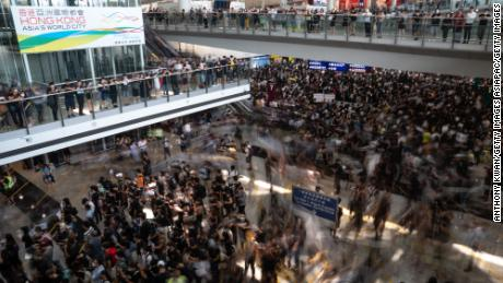Why are Hong Kong protesters at the airport?