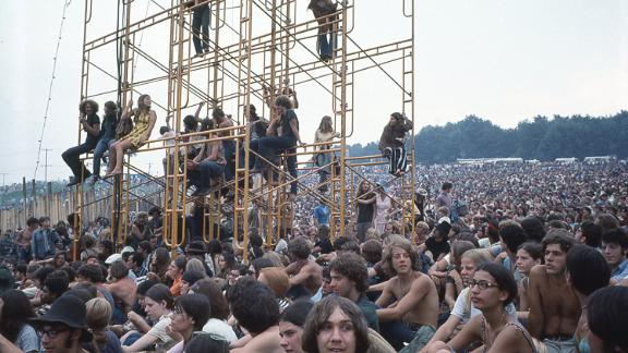 Although high-profile acts like Jimi Hendrix, Janis Joplin and Jefferson Airplane all played Woodstock, Bellak appears to have been more interested by the crowd.