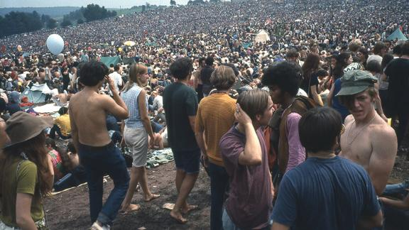 """""""These photos are all about peace, kindness and the camaraderie that took place on August 15-17, 1969,"""" Bellak wrote of his pictures. """"Now Woodstock is a metaphor for the way it really was. But I believe it is the way it can be."""""""
