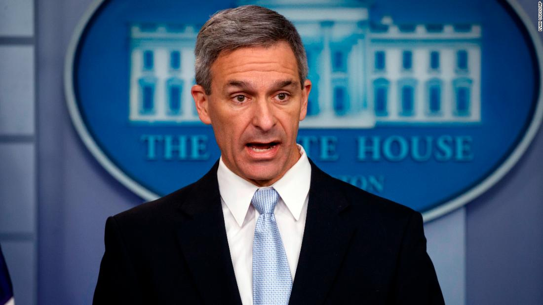 White House personnel director told Trump that Cuccinelli isn't eligible for DHS chief