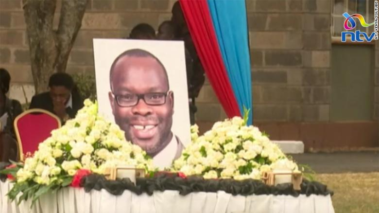 Member of Parlament Ken Okoth is remembered at his funeral.