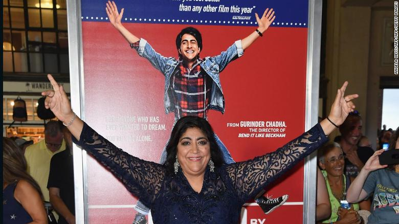 "English director Gurinder Chadha attends the premiere of ""Blinded by the Light"" at Paramount Theater on August 07, 2019 in Asbury Park, New Jersey."