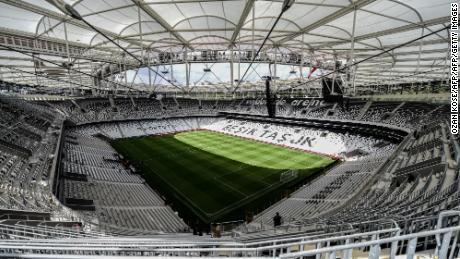 A general view of  Besiktas' stadium.