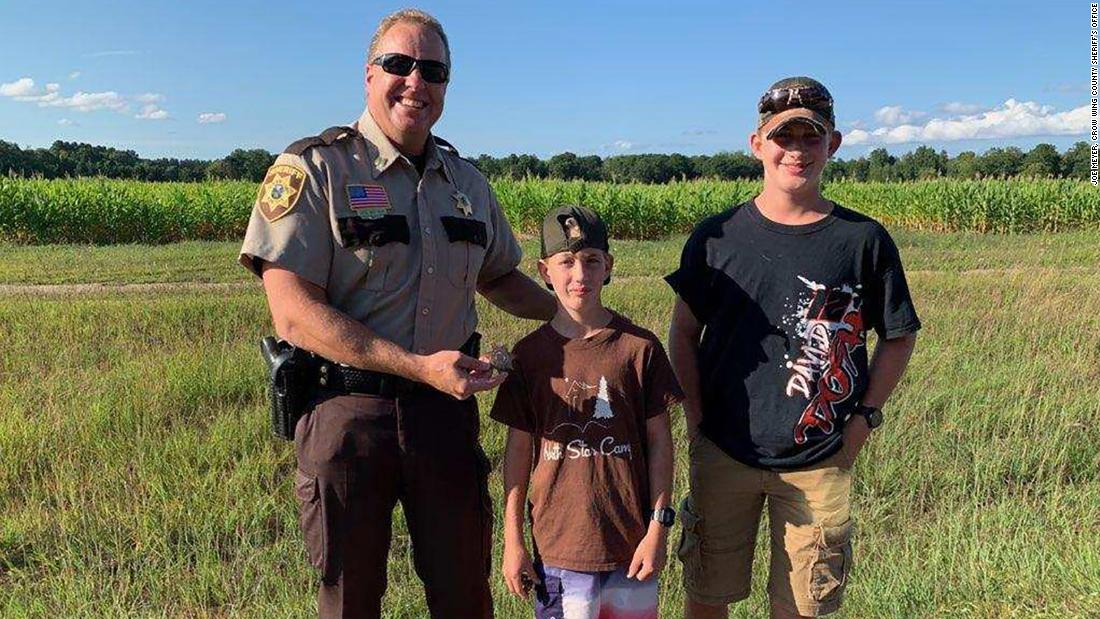 Two boys found a 30-year-old deputy badge and then found its owner