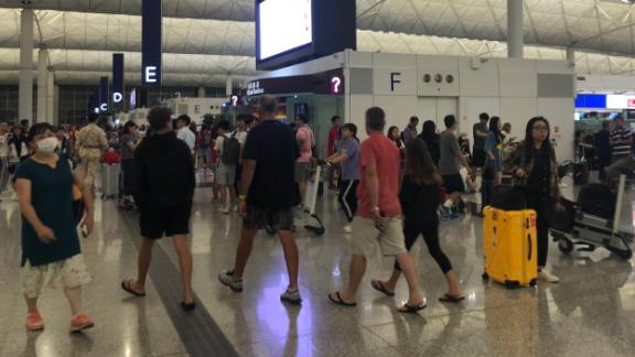 The Hong Kong International Airport returned to normal operations Wednesday following clashes between protesters and police, according to a CNN team there.