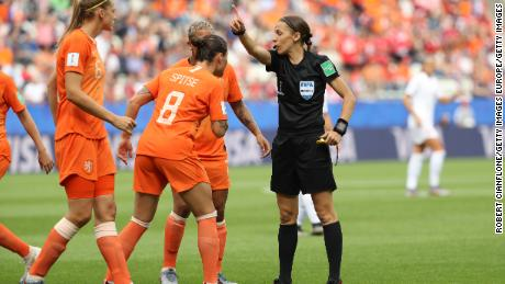 Frappart was in charge of this summer's Women's World Cup final.