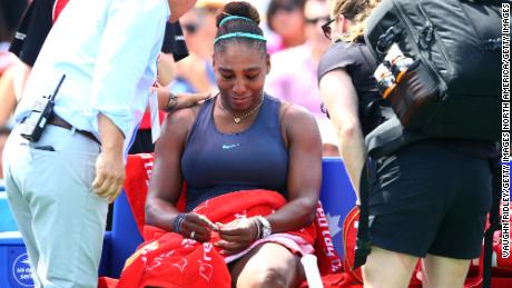Serena Williams pulls out of Cincinnati Masters with back injury