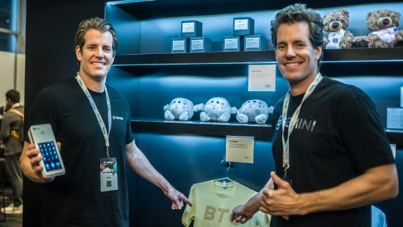 NEW YORK, NY - MAY 13: Gemini founders Cameron Winklevoss and Tyler Winklevoss attend Consensus 2019 at the Hilton Midtown on May 13, 2019 in New York City.  (Photo by Steven Ferdman/Getty Images)
