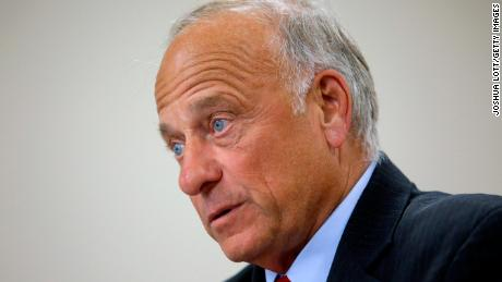 U.S. Rep. Steve King (R-IA) speaks during a town hall meeting at the Ericson Public Library on August 13, 2019 in Boone, Iowa. (Joshua Lott/Getty Images)