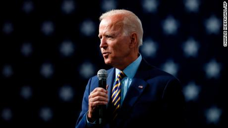 Democratic presidential candidate former Vice President Joe Biden speaks at the Presidential Gun Sense Forum, Saturday, Aug. 10, 2019, in Des Moines, Iowa. (AP/Charlie Neibergall)