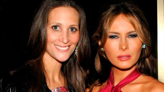 Stephanie Winston Wolkoff and Melania Trump in 2008.