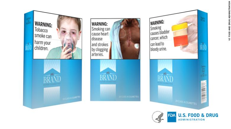The FDA proposed rule  would require new health warnings on cigarette packages and in advertisements.