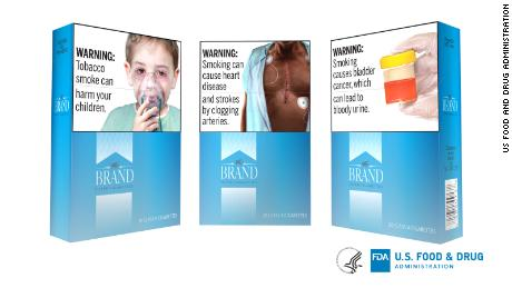 US cigarette packs and ads to include graphic warnings, FDA says - CNN