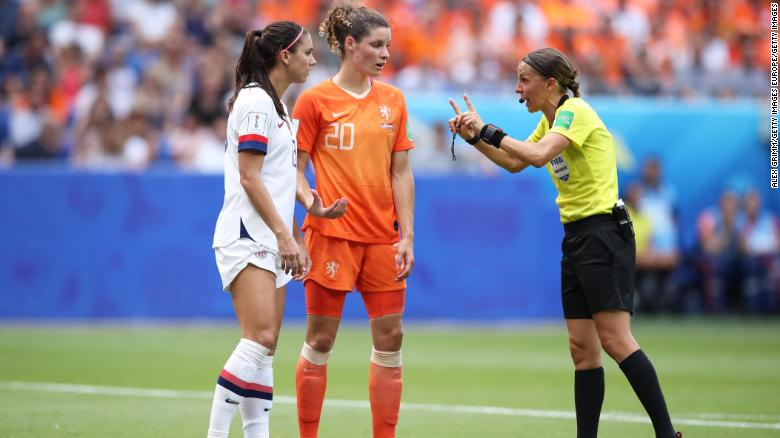 Stephanie Frappart officiated the Women's World Cup final between the USA and the Netherlands.