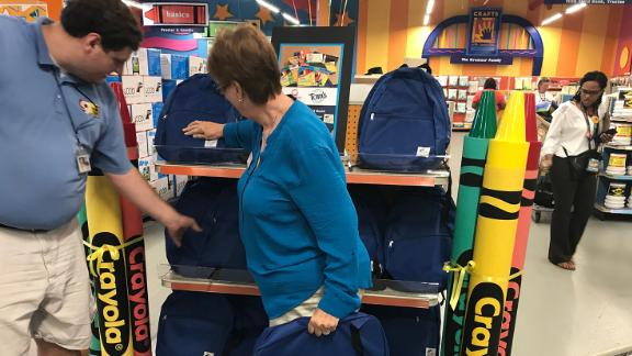 Teachers shop for free supplies at Crayons to Computers, part of Kids in Need