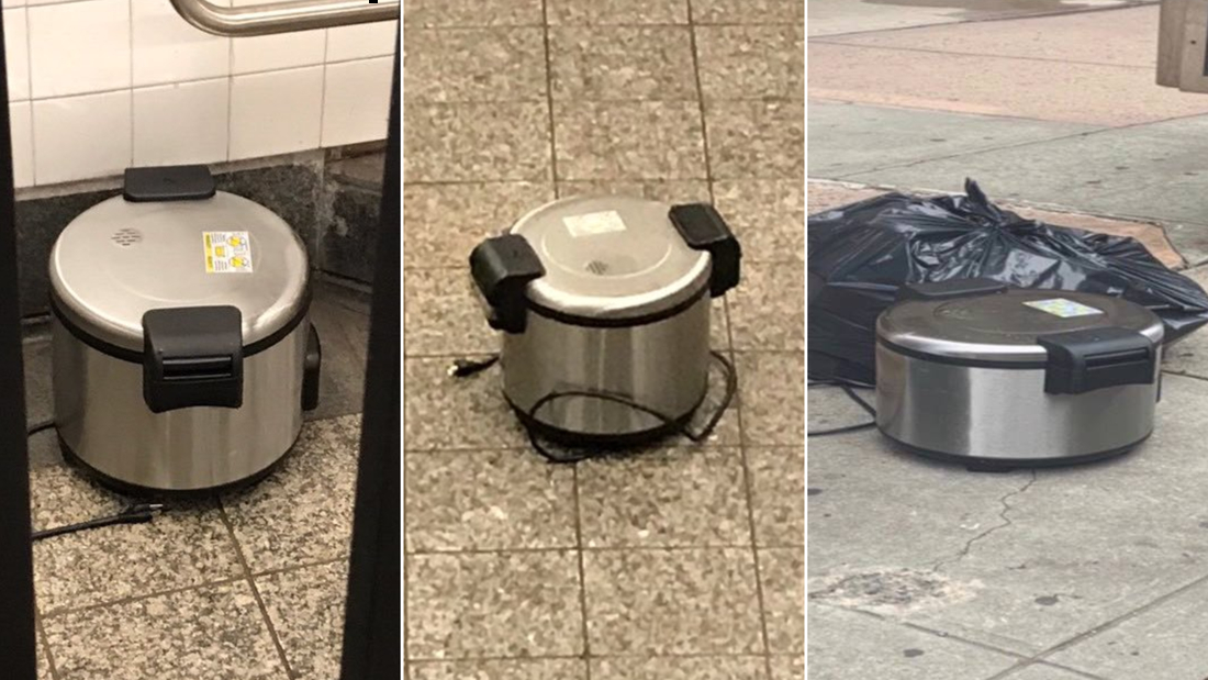 The man accused of placing rice cookers around New York was arraigned on placing false bomb charges