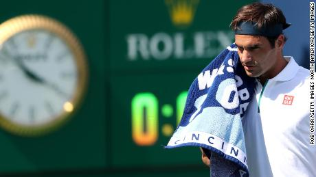 Roger Federer struggled to find his form as he slid to a straight sets defeat.