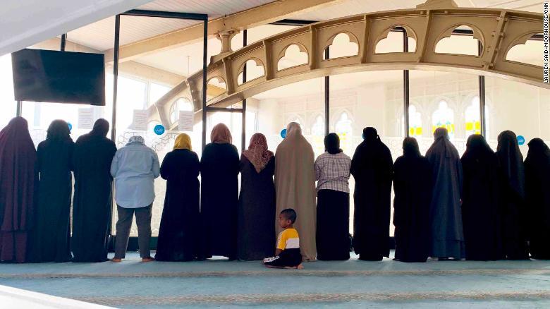 Women congregate for prayers at Green Lane Masjid.