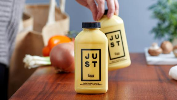 Just Egg bottles are hitting Kroger store shelves.