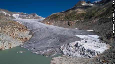 The Rhône Glacier in Switzerland.
