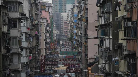 Residential buildings in the Sham Shui Po region in Kowloon are seen on November 21, 2011 in Hong Kong.  Hong Kong Financial Secretary John Tsang Chun-wah has warned that the city