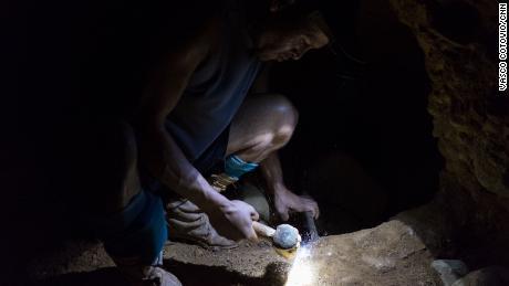 A goldminer in Venezuela's Orinoco Mining Arc.