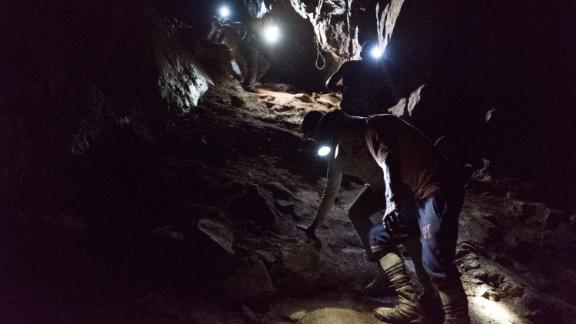 Goldminers underground in Venezuela